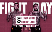 Sam Eggington vs Ashley Theophane live results who won full report channel 5 YouTube watch highlights Tommy welch