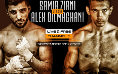Alex Dilmaghani vs Samir Ziani European Super-Featherweight title channel 5