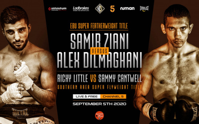 "Alex Dilmaghani confident ahead of Samir Ziani European title tilt: ""I'm far superior and expect to take his belt and his rankings"" what time start where to watch oddschecker betting odds who wins channel 5 ringwalks"