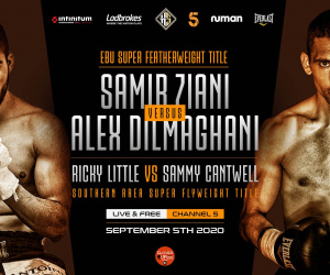 Alex Dilmaghani stopped by Samir Ziani with nine seconds to go in European super-featherweight title fight report result who won highlights
