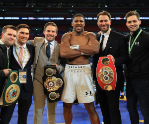Anthony Joshua signs with Matchroom
