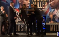Jarrell Miller push Anthony Joshua