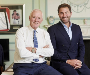 Barry Hearn OBE steps aside for Eddie Hearn to take over as Chairman of Matchroom Sport katie media brentwood dazn deal sky sports how much is he worth company