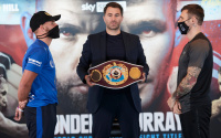 "Billy Joe Saunders makes his plan for Martin Murray clear: ""I'm retiring him"" eddie hearn press conference quotes what when why who time start fifth four two-weight world champion tale of the tape sky sports channel number no."