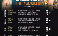 Callum Smith vs Canelo Alvarez fight week schedule face off weigh in what time tv channel live stream links youtube watch