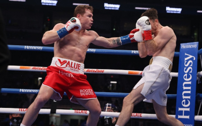 Canelo Alvarez dominates Callum Smith full fight result report who won youtube highlights watch world titles next light-heavyweight pound for pound p4p ratings rankings ring magazine belt