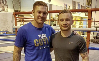 Carl Frampton and Jamie Moore