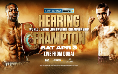 "Jamel ""Semper Fi"" Herring's WBO junior lightweight world title defense against Belfast's former two-weight world champion Carl ""The Jackal"" Frampton will stream live and exclusively in the United States on ESPN+ dubai live stream links channel number sky"