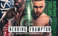 WBO world super featherweight Carl Frampton vs Jamel Herring confirmed for February 27 in London bt sport fight date tv channel undercard schedule running order predictions preview