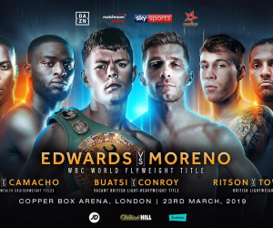 Charlie Edwards vs Angel Moreno fight time, date, TV channel, undercard, schedule, venue, betting odds and live stream details