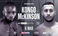 Unbeaten welterweights Chris Kongo and Michael McKinson will collide for the WBO Global Title povetkin whyte 2 undercard fights ringwalks what time start channel number no. predictions betting odds oddschecker quotes