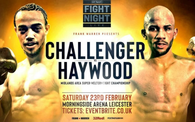 CJ Challenger vs Kyle Haywood