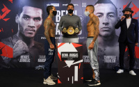 Conor Benn vs Samuel Vargas official weights and running order what time start shannon courtenay ebanie bridges naked bra weigh in nipples sky sports facebook ringwalks dazn app