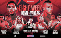 Conor Benn vs Samuel Vargas fight week schedule ringwalks behind the scenes Matchroom Boxing YouTube sky sports watch channel number