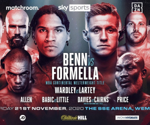 Conor Benn plans to announce himself on the world stage by stopping former IBO World Champion Sebastian Formella fight time date tv channel undercard betting oddschecker preview predictions
