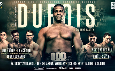 Daniel Dubois vs Richard Lartey weights and running order