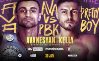 David Avanesyan European welterweight title defence to Josh Kelly rearranged for January 30 venue date time tv channel preview predictions who wins and why how what watch sky sports trainers