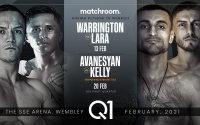 The SSE Arena, Wembley for Josh Warrington vs. Mauricio Lara on Saturday February 13 and David Avanesyan vs. Josh Kelly on Saturday February 20 tickets where to buy sky sports uk dazn app live stream links