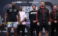 Derek Chisora vs Joseph Parker press conference quotes - 'WAR' promises to come forward and chuck hell! eddie hearn ight time david haye buddy mcgirt