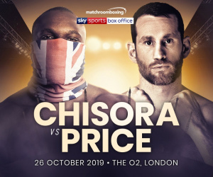 Derek Chisora will face David Price on October 26