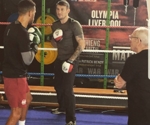 Derry Mathews coach trainer boxing academy