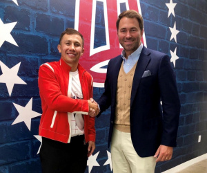 Gennadiy Golovkin and Eddie Hearn