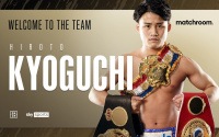 Undefeated WBA Super and Ring Magazine world champion Hiroto Kyoguchi signs multi-fight promotional deal with Matchroom next fight boxing eddie hearn tv channel live stream boxrec debut