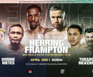 Carl Frampton vs Jamel Herring cancelled new date venue location dubai d4g promotions new fight undercard how to watch channel hand injury hotel lobby jamie moore