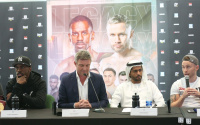 Herring vs Frampton final press conference dubai Jamel invites Carl out for a pint belfast quotes who are d4g promotions managed by channel 5 time start who wins and why analysis