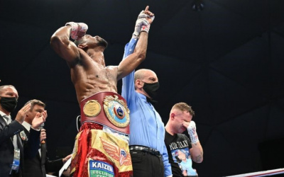 Jamel Herring retained his WBO super-featherweight title after stopping Carl Frampton in six D4G Promotions event was taking place at Caesars Bluewaters Dubai result report watch highlights ko retired