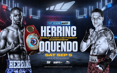 Carl Frampton's future opponent Jamel Herring set to defend WBO World super-featherweight title against Jonathan Oquendo las vegas