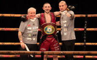 Jazza Dickens defeats Liam Walsh to land world title who won how much do they get make earn next fight date Golden Contract with MTK final featherweight wbo european watch results reports youtube highlights