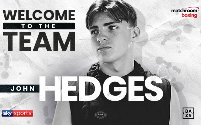 Eddie Hearn signs standout amateur champion 'Gentleman John' Hedges matchroom boxing