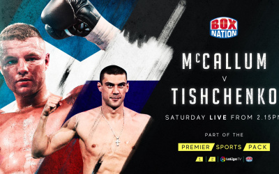 John McCallum vs Evgeny Tishchenko results full report TKO2 knocked out second round russia wbo european cruiserweight title fight watch highlights who won