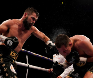 Jono Carroll vs Scott Quigg stops stoppage TKO KO knocks out report result who won fight