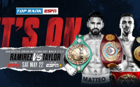 Josh Taylor and Jose Ramirez to battle for undisputed super-lightweight crown on May 22  ESPN & ESPN Deportes simulcast on ESPN+ where is it will be? location venue undercard information will be announced shortly