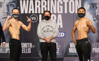 Josh Warrington vs Mauricio Lara official weights and running order leigh wood dalton smith zelfa barrett reece mould daniel danny mendoza hopey price ibrahim nadim jonny phillips kiko martinez