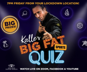 The WBSS Launch 'Kalle's Big Fat Sports Quiz' this Friday at 7pm!