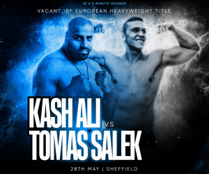 Kash Ali lands IBF European heavyweight title shot dennis hobson promotions how to watch fight time date tv channel live stream links tickets Conah Walker vs Levi Ferguson vacant Midlands Area welterweight title
