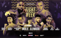 Lawrence Okolie vs Krzysztof Glowacki full fight week schedule WBO Cruiserweight World Title sky sports Matchroom Boxing Twitter youtube Instagram boxer arrivals weigh in what time start behind the scenes