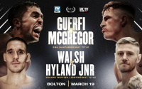 Karim Guerfi vs. Lee McGregor and Liam Walsh vs. Paul Hyland Jnr rescheduled march 19 2021 IFL TV European bantamweight title British lightweight belt watch betting odds oddschecker time date