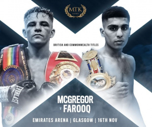 Lee McGregor vs Kash Farooq weights and running order