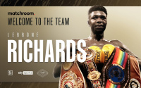 Undefeated Super-Middleweight targets World honours Matchroom sign Lerrone Richards next fight trainer coldwell dave british time tv boxrec where from bromley kent london