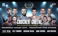 Lewis Crocker vs Louis Greene fight results who won full report darren tetley liam taylor lee mcgregor ryan walker gary cully craig woodruff james mcgivern debut score fearghuss quinn