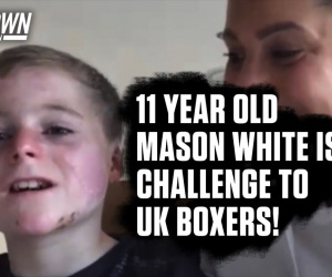 11-year-old Mason White issued challenge to all Frank Warren fighters