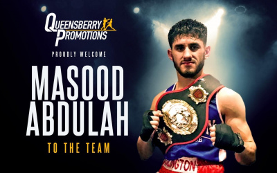 Frank Warren signs national amateur champion Masood Abdulah islington abc