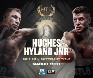 Maxi Hughes replaces Liam Walsh in British lightweight title fight with Paul Hyland Jnr
