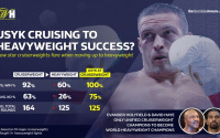 Stats show that cruiserweights struggle making the step-up to heavyweight david haye evander holyfield william hill infographic chisora first round ko