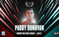 Paddy Donovan next fight confirmed at Production Park Studios in Wakefield on Friday 22 January #mtkfightnight date time venue betting odds opponent oddschecker who fight when