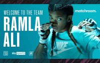 From refugee to national champion - Ramla Ali turns pro with Matchroom Boxing anthony joshua manager adviser eddie hearn when is her debut coach who is trainer husband time tv sky sports channel